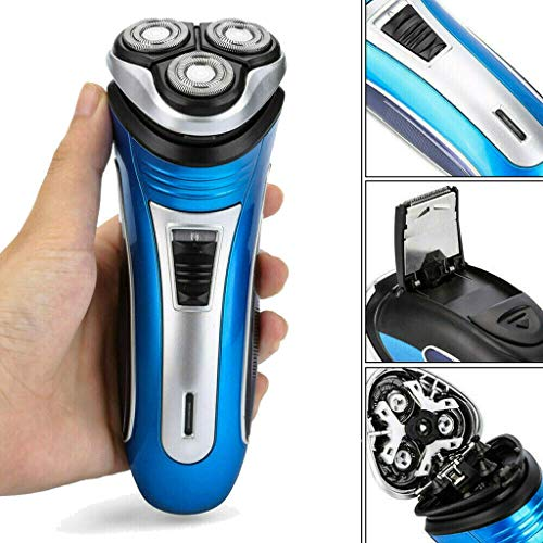 - Facial Hair Shaver, Fheaven Electric Shaver Rechargeable 3D Triple Floating Head Trimmer Razor for Mens +Cleaning Brush