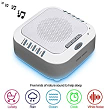 Omkuwl Three Sheep S3 White Noise Sleep Natural Sound Machines Timer for Baby Kids Adults Digital USB Noise-Cancelling