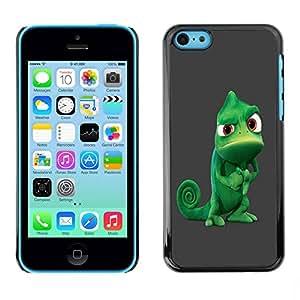 Paccase / SLIM PC / Aliminium Casa Carcasa Funda Case Cover para - Funny Tough Chameleon - Apple Iphone 5C