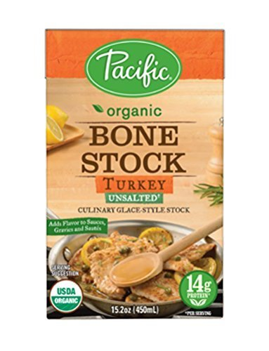 Pacific Foods Organic Bone Stock, Turkey Unsalted, 15.2 Ounce by Pacific Foods by Pacific Foods