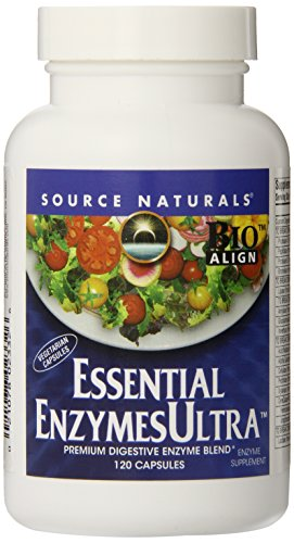 Source Naturals Essential EnzymesUltra, 120 Vegetarian Capsules (Pack of 12) by Source Naturals