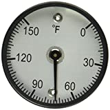 "PIC Gauge B2MS-E 2"" Dial Size, 0/150°F, Surface Mount, Magnetic Connection, Black Steel Case Surface Mount Thermometer"