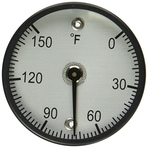 """PIC Gauge B2MS-E 2"""" Dial Size, 0/150°F, Surface Mount, Magnetic Connection, Black Steel Case Surface Mount Thermometer by PIC Gauges (Image #1)"""