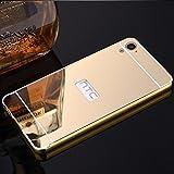 CLASSICO Luxury Aluminium Bumper Plus Mirror Acrylic Back Cover For HTC 728