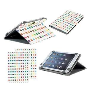 Funda de Cuero Tipo Folio Neotechs® Elegane Multicolor con Soporte de Pie para Google Nexus 7 Primera y Segunda Gen. MyTablet 2 Argos y Tablet Hudl Tesco