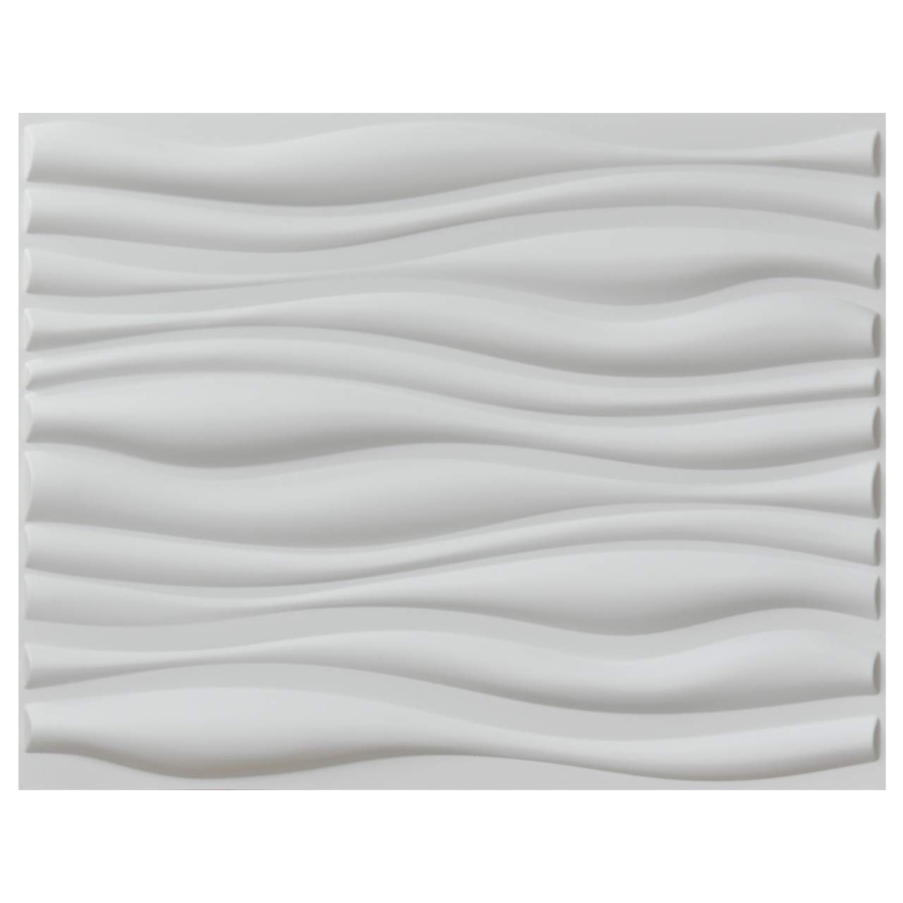 Art3d Decorative 3D Wall Panels Big Wave Deisgn, 31.5''x24.6'' Matt White (6 Pack) by Art3d