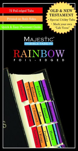 Majestic Rainbow Bible Tabs -