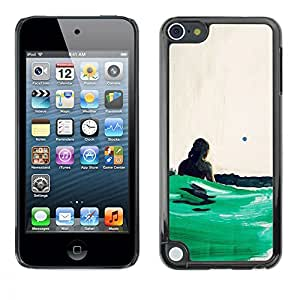 Ihec Tech Green Ocean Surf / Funda Case back Cover guard / for Apple iPod Touch 5