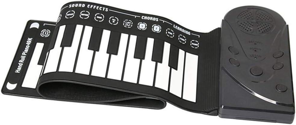 Teclado sintetizador piano 49 teclas portátil eléctrico piano ...