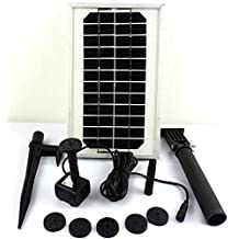 HSH-Flo Solar Power Panel Kit Solar Submersible Fountain Water Pump Aquarium Hydroponic Pond (3W)