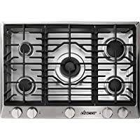 Dacor RNCT305GSNG 30 Renaissance Series Gas Sealed Burner Style Cooktop with 5 Burners in Stainless Steel