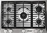 """Dacor RNCT305GSNG 30"""" Renaissance Series Gas Sealed Burner Style Cooktop with 5 Burners in Stainless Steel"""