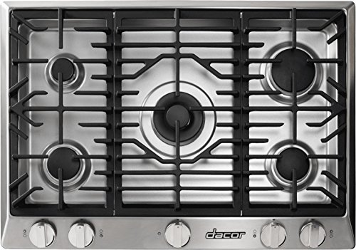 "Dacor RNCT305GSNG 30"" Renaissance Series Gas Sealed Burner Style Cooktop with 5 Burners in Stainless Steel"