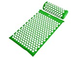 ProSource Acupressure Mat and Pillow Set for Back/Neck Pain Relief and Muscle Relaxation , Green