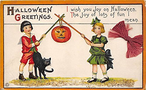 Black Cat, Series 63 E Halloween Postcard Old Vintage Post Card ()