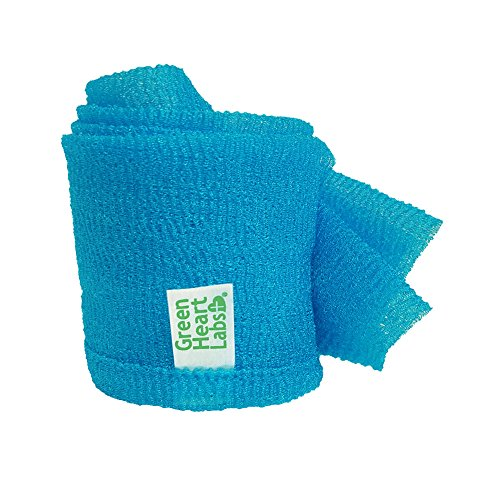 ExfoliMATE | Magic Exfoliating Shower Cloth Gently Removes Dead Skin for a Youthful Clear Complexion (aqua)
