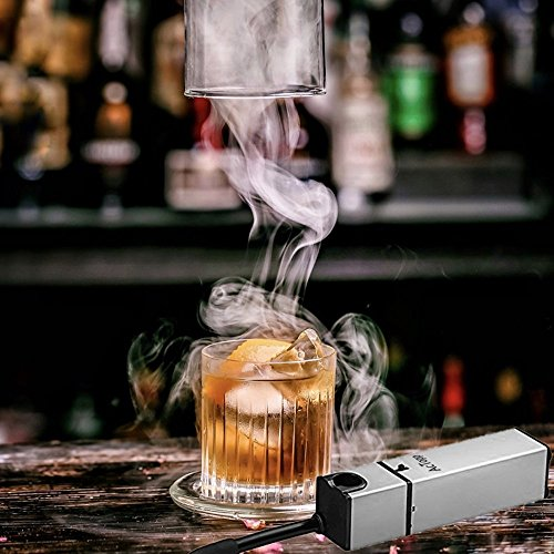 ACTOPP Smoking Gun Food Smoker Smoke Infuser to Enhance Taste Cocktail Whisky Beverage Cool Smoke Kitchen Outdoor BBQ (silver-New package) by ACTOPP (Image #4)