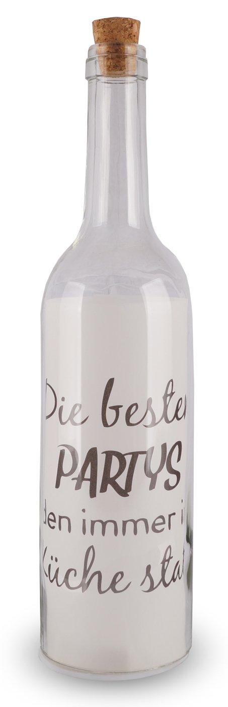 4 Deko LED Flaschen 30x7cm Glas Küche Lustige Sprüche Korken Flaschenpost:  Amazon.de: Küche U0026 Haushalt