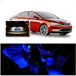 Ameritree Chrysler 200 2015 2016 7 Pcs Blue Premium Led Lights Interior Package