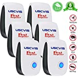 6 Pack Ultrasonic Pest Repeller, Safe for Human Pets US Standard Plug Efficient Control Mosquito Insects Spider Termite Flies Cockroaches Mice