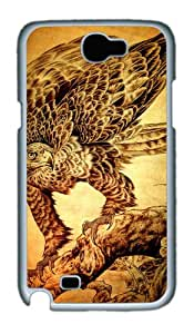 Wood Eagle Custom Designer Samsung Galaxy Note 2/Note II / N7100 Case Cover - Polycarbonate - White