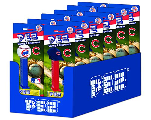 (PEZ MLB Chicago Cubs, 0.87-Ounce Candy Dispensers (Pack of 12))