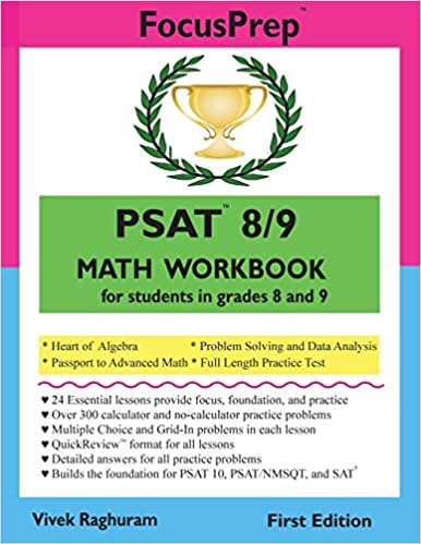 Psat 89 Math Workbook For Students In Grades 8 And 9 Focusprep
