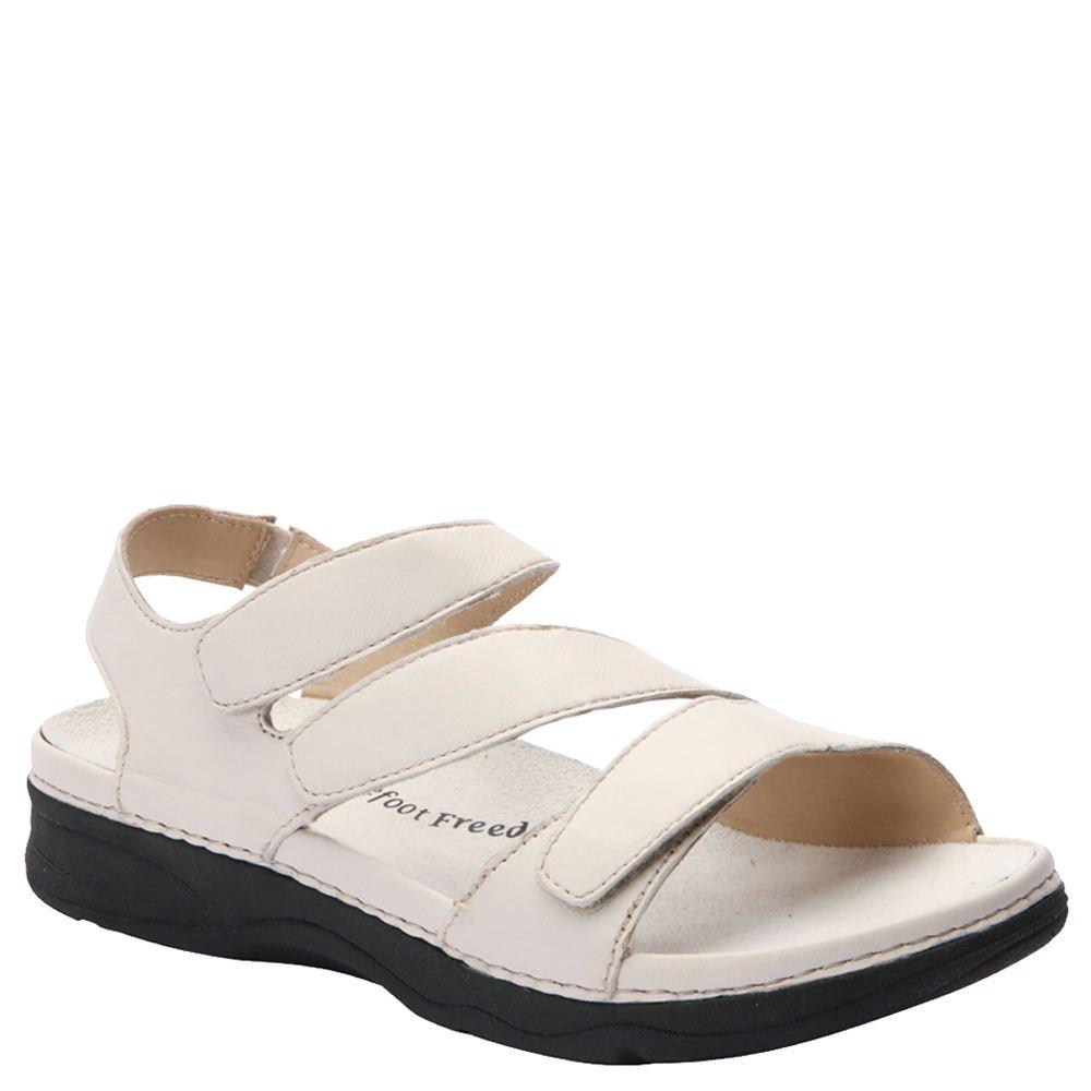 Drew Women's Angela Sandals B(M) Bone Smooth Leather Women's Shoe 8 B(M) 17023-32 8.0 B(M)