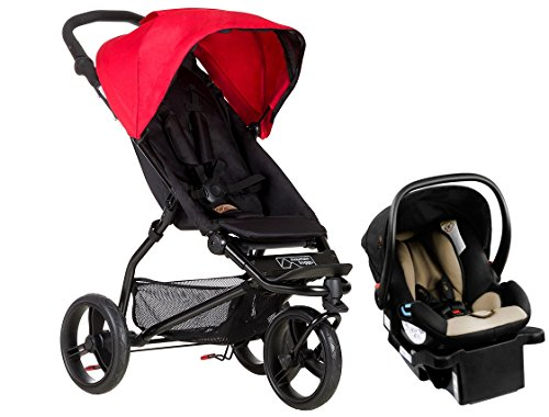 Mountain Buggy MB Mini Compact Travel System, Berry