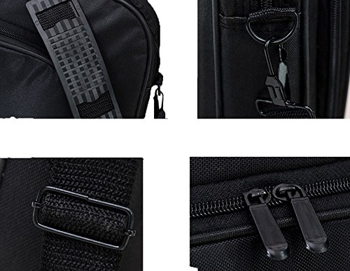 Messenger Bag For 15 Inch Laptop Computer Bag Macbook Shoulder Bag Business Backpack College Bookbag Travel Business Backpack Black Bag by FL Margaret (Image #6)'