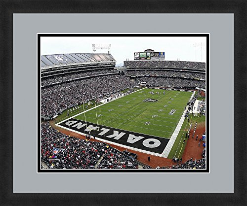 """Coliseum Framed (NFL Oakland Raiders O.co Coliseum, Beautifully Framed and Double Matted, 18"""" x 22"""" Sports Photograph)"""