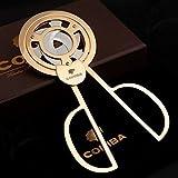 HOT SALE Triple Blades Stainless Steel Tone Cigar Cutter Pocket Gadgets Cutter Knife Cuban Cigars Scissors