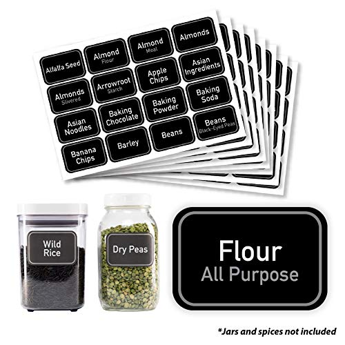 AllSpice 208 Preprinted Water Resistant Bulk Pantry Labels Set