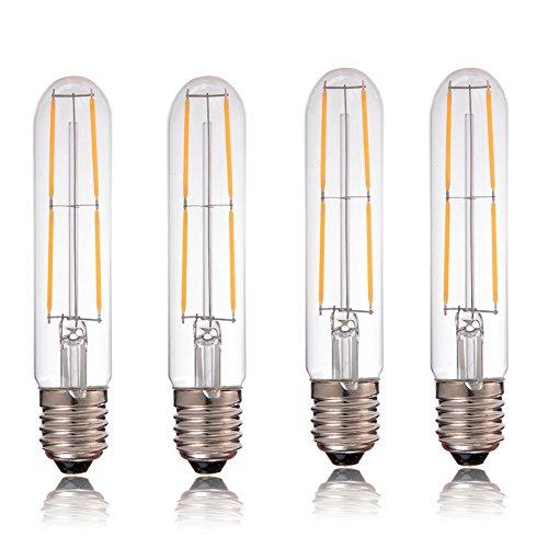 Century Light - 4W LED Filament Vintage Tube Light Bulb T30 (Dimmable) UL-Listed - 40W Incandescent Equivalent - E26 Standard Medium Base Warm White 2700K - 4 Pack