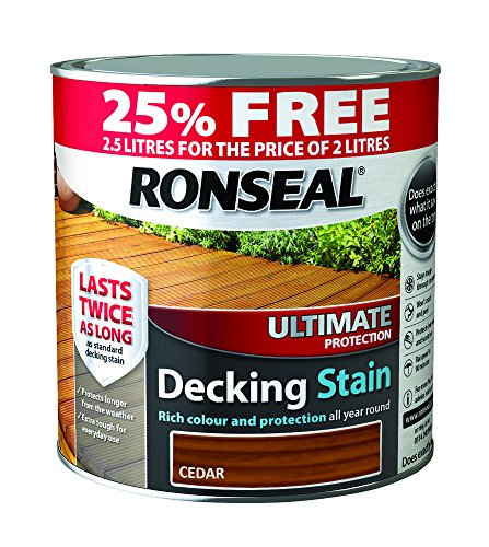 Ronseal RSLUDSC25L 2.5L Ultimate Protection Decking Stain - Charcoal
