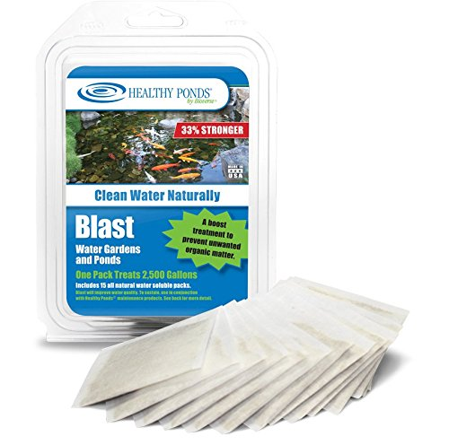 (Healthy Ponds 60009 Blast Pond Water Cleaner, 15 Water Soluble Packets; Each Packet Treats up to 2,500 Gallons)