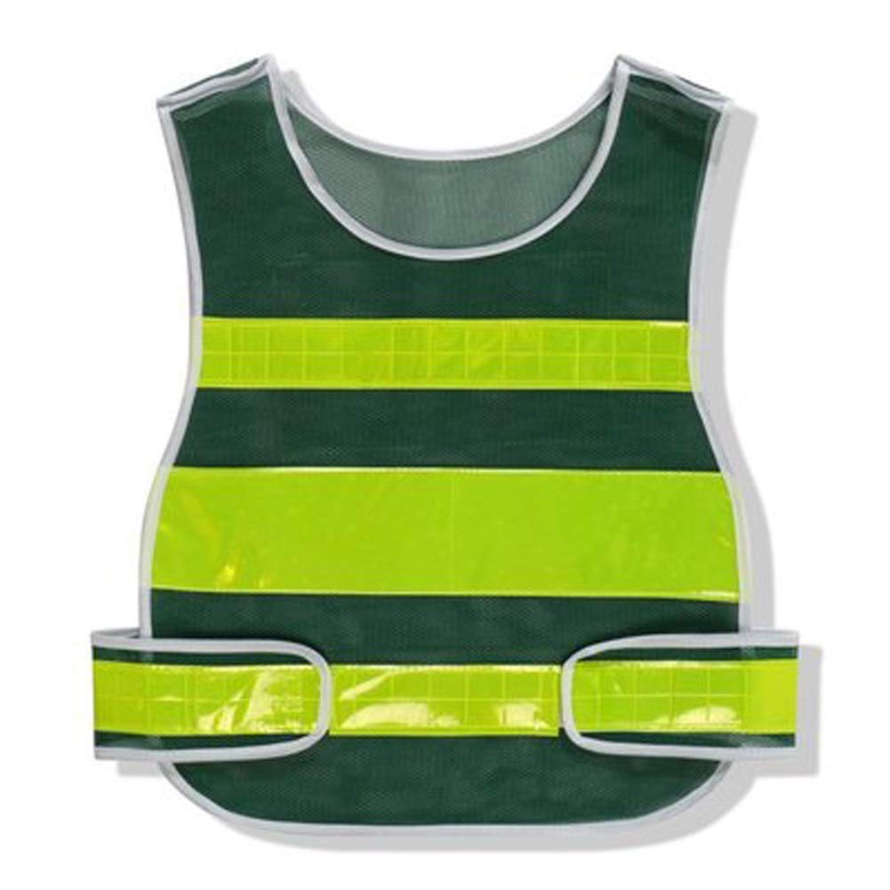RYYAIYL Reflective Vest for Running Or Cycling | Reflector Jackets with Pockets | High Visibility Safety Clothing for Bike, Walking, Runners (Color : Green)