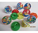 Caillou cupcake toppers Rings 12ct- goody bag, loot, birthday treat by Unknown