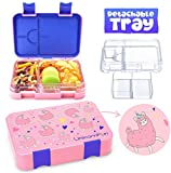 UnicornFun Bento box 6 Compartment Bento-Style Kids Childrens Lunch...