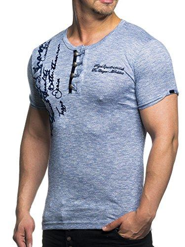 TAZZIO T-Shirt mit Stylischem Knebelverschluss 16171