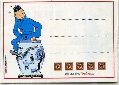 Livres Tintin - Poulain - Le Lotus Bleu - petites étiquettes pdf epub