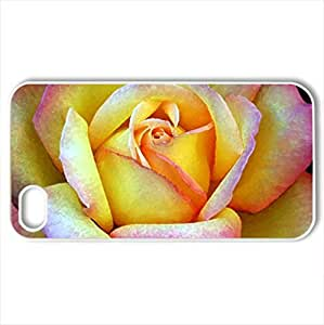PEACE SHAWL - Case Cover for iPhone 4 and 4s (Flowers Series, Watercolor style, White)