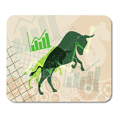 Boszina Mouse Pads Financial and Stock Investment Market Concept The Bull Which Rising Price of Securities are Expected Mouse Pad for notebooks,Desktop Computers mats 9.5