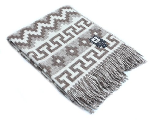 Ethnic Alpaca Wool Throw Blanket Inca Indio Geometric Pattern (Alpaca Inca Yarn)
