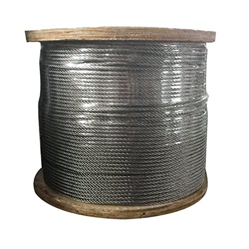 Steel Post 7 - Mophorn T316 Stainless Steel Cable 1/8Inch 7x7 Steel Wire Rope Cable 500ft Cable Railing for Railing Decking DIY Balustrade (500ft)