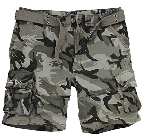 Con Pantaloncini LateraliCintura Bermuda Coolo Cargo Tasconi Militare Short Fun Corti Ajqc35LS4R