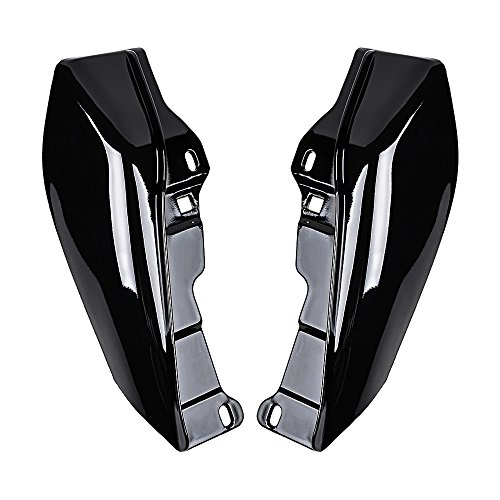 Price comparison product image Set Left & Right Glossy Black Mid-Frame Air Deflector Direct Fit 2009-2017 Harley Touring Trike