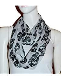 Fashion Light Weight All Season Skull Printed Infinity Scarf