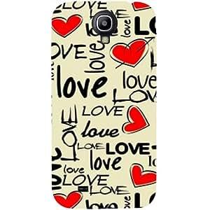 casotec Love diseño de corazones Hard Back Case para Samsung Galaxy S4, GT i9500