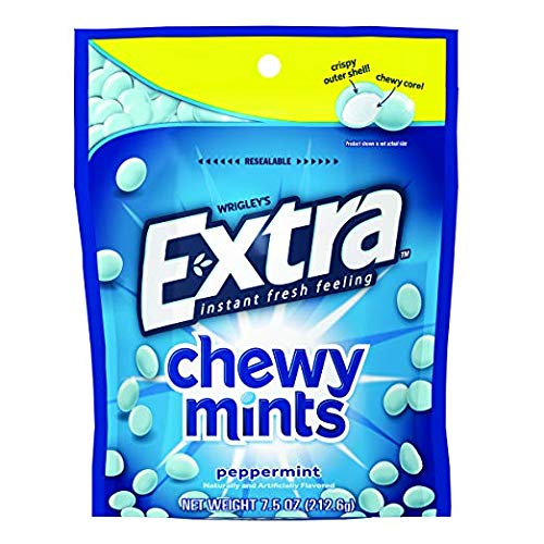 Extra Chewy Mints Peppermint 7.5 oz (Pack of 2)